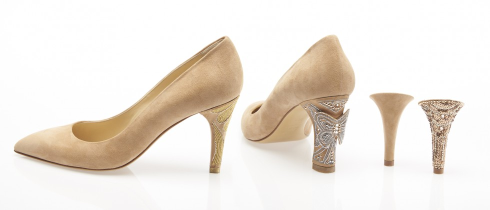 Schuhe mit austauschbaren absatz