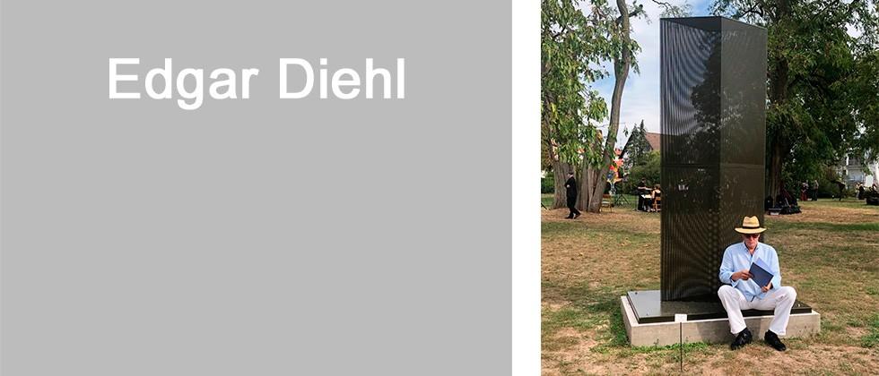 """Edgar Diehl wurde jüngst für seine Skulptur """"Hemingways Koffer"""" mit dem Otto-Schaffner-Preis ausgezeichnet."""