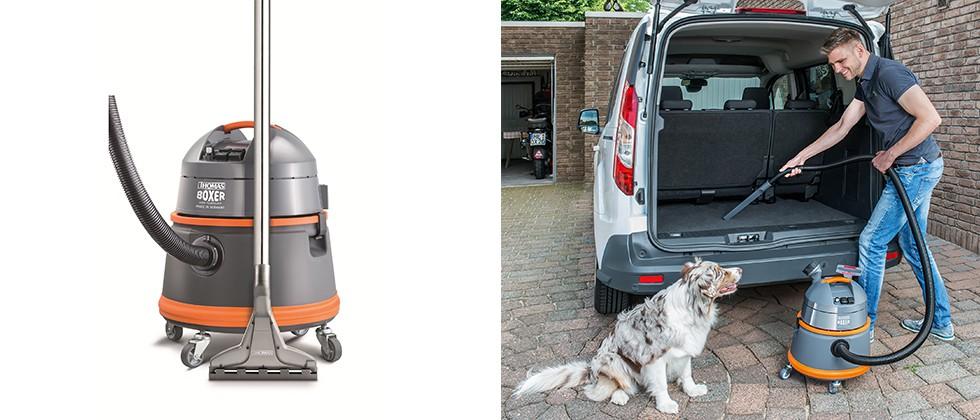 Der praktische Waschsauger THOMAS BOXER ist der ideale Helfer beim Autoputz