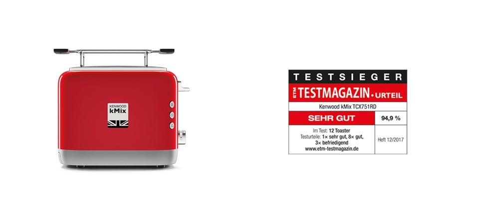 Der kMix Doppelschlitz-Toaster überzeugt als eindeutiger Testsieger