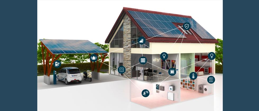 (Foto: Kopp) Kopp wird künftig Gesamtlösungen aus einer Hand bieten: von PV-Modulen über Wechselrichter und Speicher bis hin zu  E-Ladestationen, integriert in ein umfangreiches Smart-Home-System.