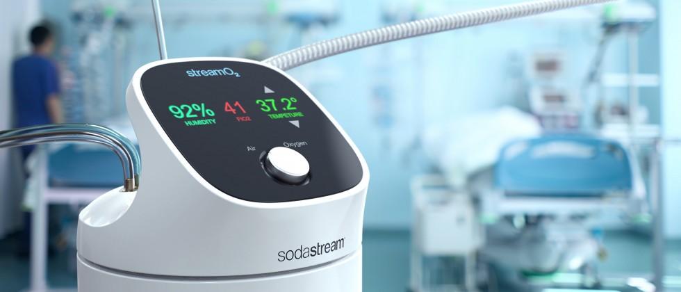 (Foto: SodaStream) Das von SodaStream und Hadassah entwickelte Gerät soll besonders bei der Behandlung leichter und mittelschwerer COVID-19-Fälle zur Anwendung kommen.