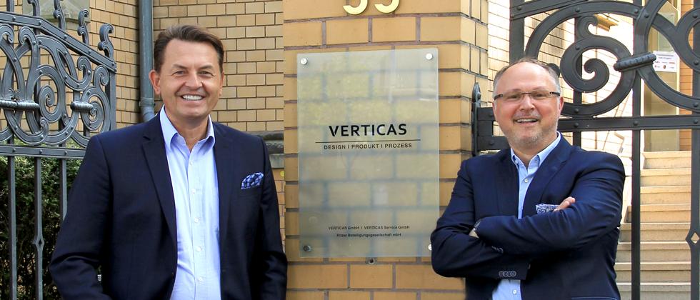 (Foto: Verticas) Die Geschäftsführung von Verticas: Klaus Ritzer (links) und Steffen Weigand
