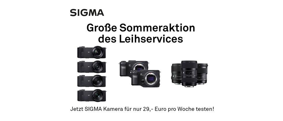 Die Kameras und Objektive der SIGMA Sommeraktion des Leihservices