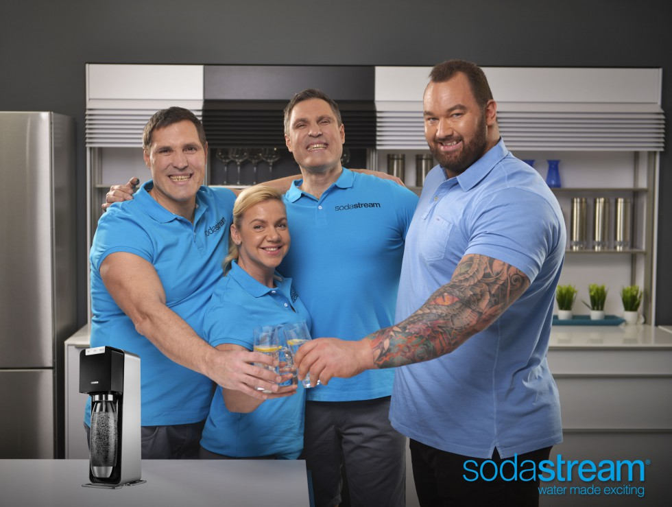 heavy bubbles and the strongest ambassador ever sodastream and game