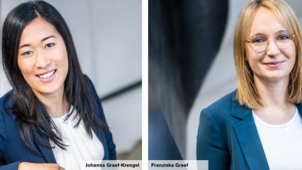 (FOTO: GRAEF) Johanna Graef-Krengel (l.) und Franziska Graef (r.)