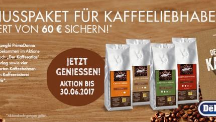 Beim Kauf eines Kaffeevollautomaten der PrimaDonna-Geräteserie im Aktionszeitraum, erhält jeder Kunde zusätzlich ein Genusspaket im Wert von 60 Euro.