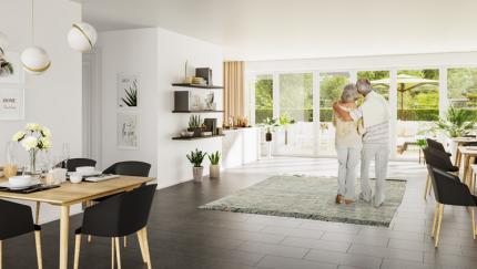(Foto: InnZeit/ES Rendering München) Künftig wird geförderter und altersgerechter Wohnraum nötiger denn je gebraucht.