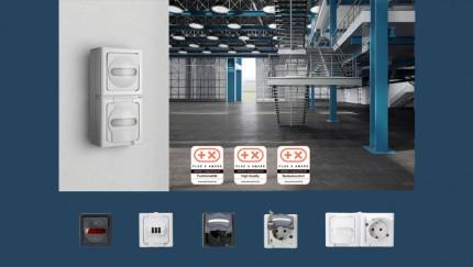 (Foto: Kopp) Das Schalterprogramm BLUE ELECTRIC von Kopp erhält den Plus X Award in den Kategorien High Quality, Bedienkomfort und Funktionalität.