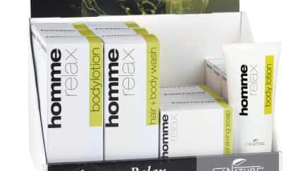 Die neue LaNature Pflegeserie homme relax ist speziell auf die Bedürfnisse der männlichen Haut abgestimmt.