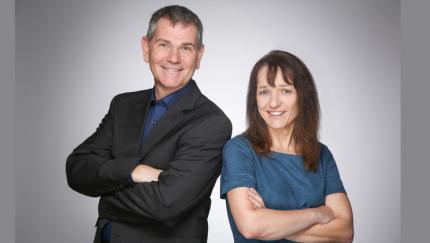 (Foto: RegIntA) Geschäftsleiter Normann Mörsel und Katrin Rosen, Gründerin und Geschäftsführerin der RegIntA GmbH