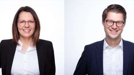 (Foto: pro optik) Mit Anja Fujan und Stefan Pollok verstärkt pro optik seinen Bereich HR / campus.