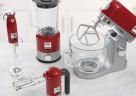 ie kMix Küchenmaschine und die flinken kMix Stand-, Hand- und Stabmixer in Rot.
