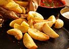 Leckere Kartoffelecken, mit der MultiFry von De'Longhi kein Problem.