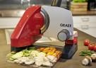 Dank erhöhter Bauweise: der GRAEF-Allesschneider SKS 500 schneidet präzise in Schüsseln oder Auflaufformen