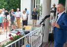 Bürgermeister Marco Eyring beim Empfang