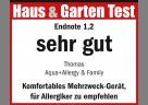 """Testsiegel """"sehr gut"""" (Endnote 1,2) für den THOMAS AQUA+ Allergy & Family"""