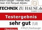 Das Testergebnis für den AQUA+ MULTI CLEAN X10 PARQUET von THOMAS