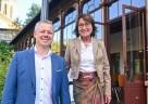 Marco Eyring, Bürgermeister der Gemeinde Schlangenbad, und Bärbel Storch, Geschäftsführerin der Staatsbad Schlangenbad GmbH
